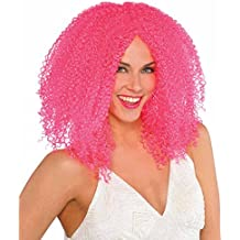 Adultos Amscan Internacionales ondulado peluca (rosa)