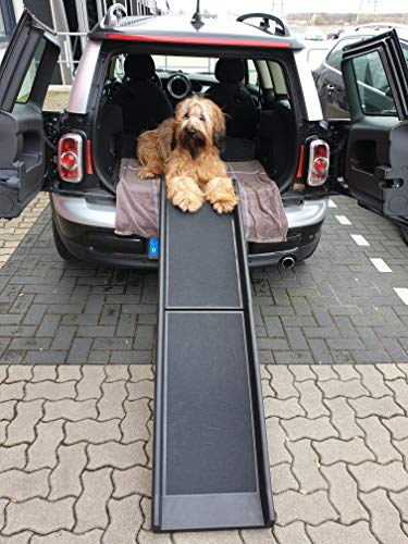 Lüllmann Auto Hunderampe klappbar Kunststoff Anti-Rutsch 155 x 40cm bis 90kg 400280 -