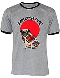 PALLAS Unisex's Yakuza Pug Gift Funny T-Shirt