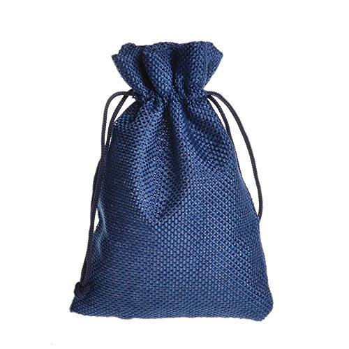 umwolle Kordelzug Staubbeutel wiederverwendbar Geschenk Candy Favor Tasche Schmuck Beutel für Hochzeit Weihnachten Halloween, canvas, königsblau, 10*14cm (Halloween-geschenk-taschen)