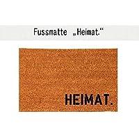 HEIMAT. Kokos-Fußmatte Teppich Fußabtreter 40 x 60 cm Geschenkidee Geburtstag Einzug
