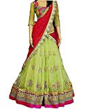 #7: Aracruz Women's Party Wear Navratri New Collection Special Sale Offer Bollywood Light Green Georgette Heavy Bridal Wedding Lehenga | Chaniya Ghagra Choli