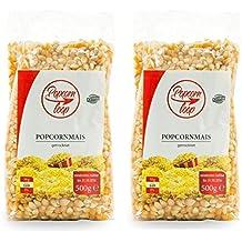 Popcornloop Zubehör bestehend aus 2x Premium Popcorn Mais 500g. Selbst Frisch Zubereiten - Ein Gesunder Snack - Individuell Würzen - Einfach Lecker - Popcorn wie im Kino! …