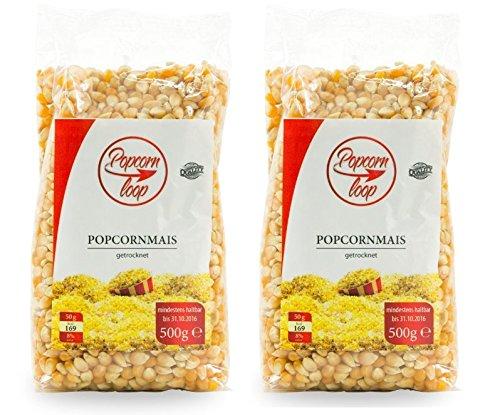 Popcornloop Zubehör bestehend aus 2x Premium Popcorn Mais 500g. Selbst Frisch...