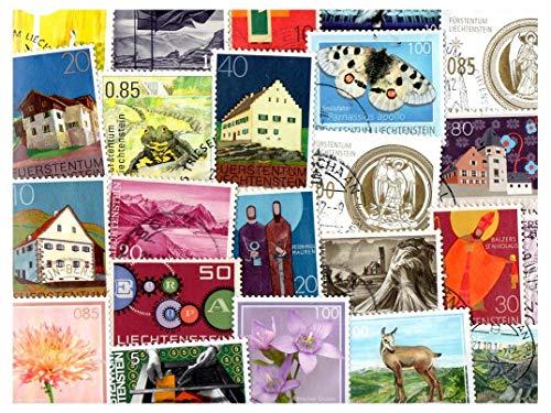 Pghstamps liechtenstein 500 francobolli differenti collezione per collezionisti