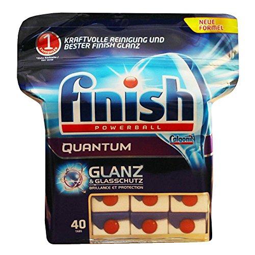 Finish/ Calgonit Powerballs Quantum Tabs/ 40 Stück/ Glanz & Glasschutz/ Spülmaschinen-Tabs