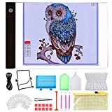 Y-Step A4 LED Light Pad, Light Board Stand Holder and 30 pcs 5D Diamond Painting Tools with 28 Slots Box for Diamond Painting Sketching Drawing
