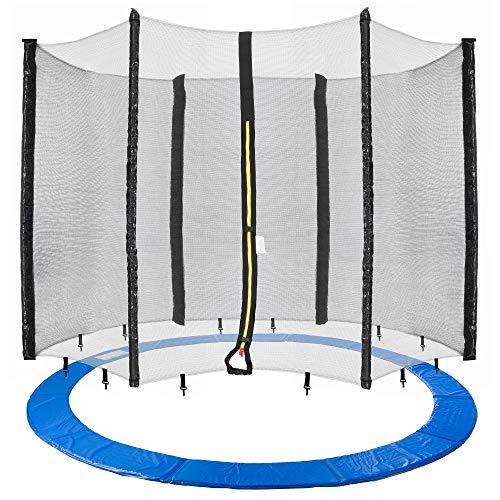Arebos Trampolin Randabdeckung und Netz / 244, 305, 366, 396, 430, 460 und 490 cm/für 6 und 8 Netzstangen (460 cm, Netz für 6 Stangen)