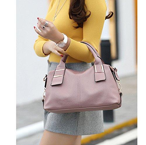 Donna Nuovo Stile Autunno Inverno Colore Solido Fascia Alta Borsa A Tracolla Borsa Borsa A Tracolla Inclinata Grey