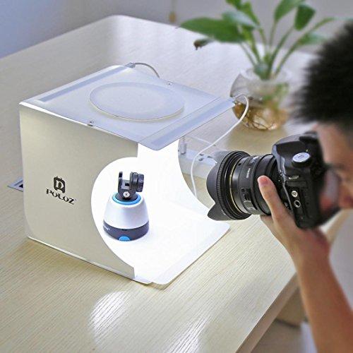 New Double LED Light Studio, mamum Doppelzimmer LED-Licht Foto Studio Fotografie Beleuchtung Zelt Hintergrund Cube Box 24 Foto Cube