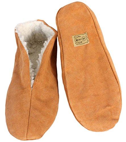 Sonia Originelli Hausschuhe echt Leder Puschen Mokassins Schluffis Gr.35-47 Leather Slippers B333 (43)