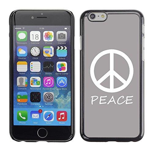 Graphic4You Peace Sign Friedenszeichen Design Harte Hülle Case Tasche Schutzhülle für Apple iPhone 6 / 6S (Königsblau) Grau