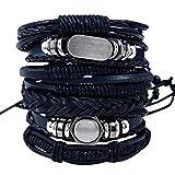 Enjoy Life Ensemble de 6 x Bracelets en Cuir 'Rock It' pour Homme et Femme |...
