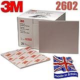 3M 2602Superfine broschierte Ausgabe Schleifschwamm Papier Multi Menge Auswahl