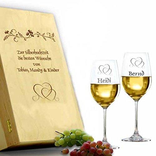 Weißwein Geschenkset *Silberhochzeit*