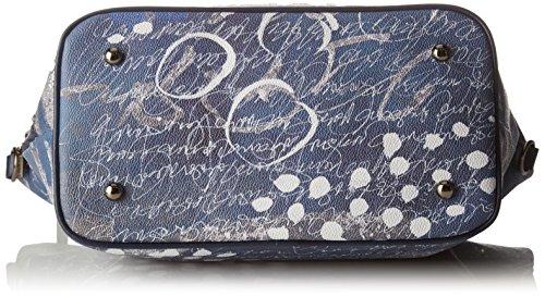 YNOT i-496, Borsa a Spalla Donna, 41 x 44 x 16 cm (W x H x L) Blu