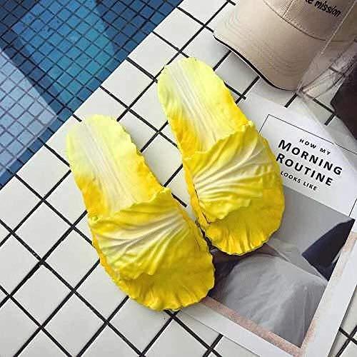 Northerncold Haus Maultier weichen Schäumen, Eltern-Kind-Indoor-Sandalen und Hausschuhe, kreative und lustige Sandalen, Damen Sommer Kohl Schuhe @ Yellow_36-37, Drain Quick Bathroom Mule (Kohls Schuhe Von)