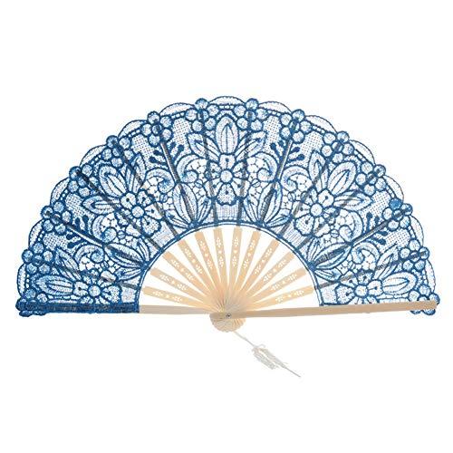 age Retro Blume Rose Spitze Handheld Chinese Faltfächer für Tanz Ball Partys Damen ()