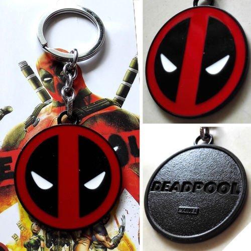 marvel-x-men-motivo-deadpool-logo-colore-nero-5-cm-colore-rosso-portachiavi-in-metallo