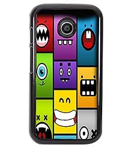 PrintVisa Metal Printed Smile Designer Back Case Cover for Motorola Moto E/ E Dual sim -D5075