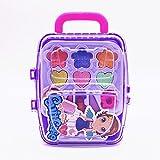 closely.T Kinderkosmetik - Prinzessin Makeup Box Trolley Form Kinder Make-up Spielzeug Set Sicher Ungiftig Mädchen Spielzeug Geburtstag Pretend Make-up Vanity Set