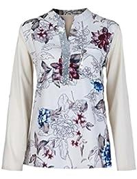 Mujer blusa camiseta tops manga larga Otoño,Sonnena Las mujeres más el tamaño con cuello en V de manga larga blusa con lentejuelas Tops camiseta casual traje de calle urbano