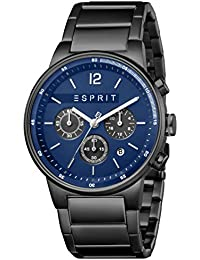 d2a42fb8f52 ESPRIT ES1G025 M0085 Equalizer – Black MB Men's Chronograph Watch –  Stainless Steel, Stainless Steel