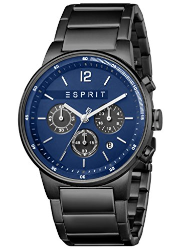 ESPRIT ES1G025 M0085 Equalizer – Black MB Men's Chronograph Watch – Stainless Steel, Stainless Steel 10 Analog Chrono Date Black