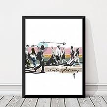 Lámina poster decorativo Walking People 30x40. Edición limitada. Diseño exclusivo, de autor. Estilo moderno, nórdico, contemporáneo.