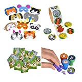 Animal Party Toy Kit, Features 24 Foam A...