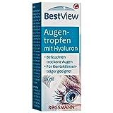 Best View Augentropfen mit Hyaluron 15 ml befeuchten trockene Augen, für Kontaktlinsenträger geeignet