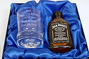 Engraved/Personalised 8oz Crystal Whisky/Whiskey Glass 40th/50th/60th Birthday Gift