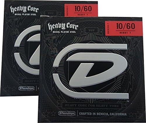 Dunlop Heavy Core Heavy 7E-Gitarren Saiten 10-60-2Pack (Heavy Saiten, E-gitarre)