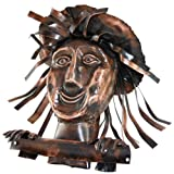 Kupferfigur Gesicht für die Dachrinne, 21 cm