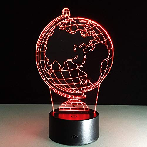 3D Erdkugel LED 7 Farbwechsel Taschenlampe Tabelle Nachttisch Baby Schlafen Nachtlichter Roman Kinder Kinder Urlaub Geschenke Klassenzimmer Dekoration