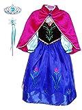 YONIER Principessa Partito Costume Cosplay Vestire Costume da Travestimento Anna Frozen Ragazze Principessa Abiti Partito Vestito Costume