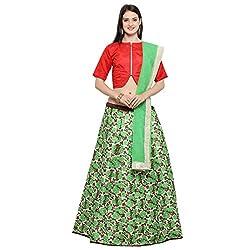 Triveni Silk Lehenga Choli (TSKT13311_Green_Free Size )