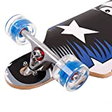 FunTomia Longboard Skateboard Drop Through Cruiser Komplettboard mit Mach1 High Speed Kugellager T-Tool mit und ohne LED Rollen - 3