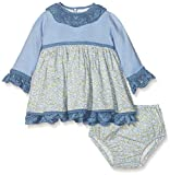 La Ormiga 1810070905 Vestido, Azul (Celeste), 86 (Tamaño del Fabricante:18M) para Bebés