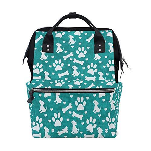 Multi Color Cute Dog Paw große Kapazität Windel Taschen Mummy Rucksack Multi Funktionen Wickeltasche Tasche Tote Handtasche für Kinder Babypflege Reise Täglichen Frauen