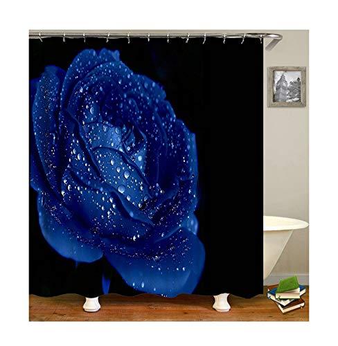 KnSam Anti-Schimmel Wasserdicht Duschvorhang Inkl. 12 Duschvorhangringen Rose Vorhänge An Badewanne Bad Vorhang für Badezimmer 150 X 180 cm (Rosen London Herzen Kleider Und)