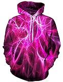 Rave on Friday Druck Sweatshirt 3D Grafik Hoodie Rosen Galaxy Cool Kapuzenpullover Tunnelzug Lange Ärmel Tops Pullover XL