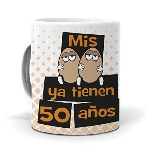 Taza Mis Huevos ya Tienen 50 años