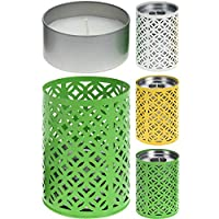 Bahia Vista Citronella Candles, Citronella Storm Light with 3 Large Candles. Windproof anti-mosquito candle. White