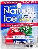 Mentholatum Natural Ice Lip Balm Cherry SPF 15 1 Each (Pack of 3)