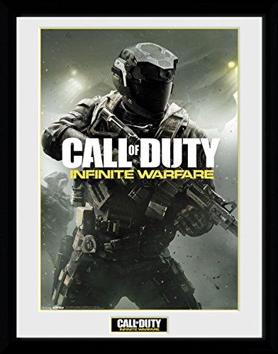 Preisvergleich Produktbild 1art1 100215 Call Of Duty - Infinite Warfare, New Key Art Gerahmtes Poster Für Fans Und Sammler 40 x 30 cm