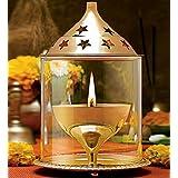 Rengvo Rudra Exports Brass Akhand Diya (8 Inch, Large)