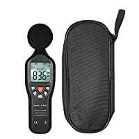 عداد مستوى الصوت من فانري، جهاز قياس مستوى الصوت الرقمي LCD 30-130dBA جهاز قياس للضوضاء مع وظيفة تسجيل البيانات