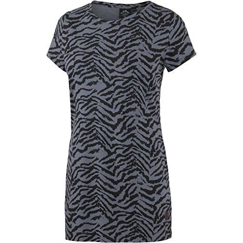 WLD Damen Longshirt schwarz/hellblau/zebra