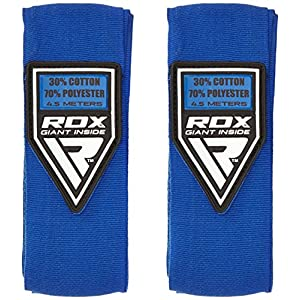 RDX Boxen Boxbandagen Wraps MMA Elastisch Handschuhe Daumenschlaufe 4,5 Meter Innenhandschuhe Muay Thai (MEHRWEG)